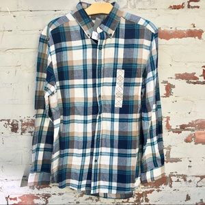 Green Men's Flannel Shirt Sz M